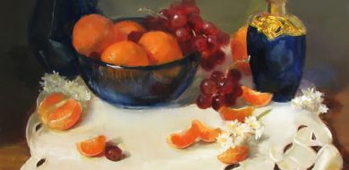 Clementines And Blue